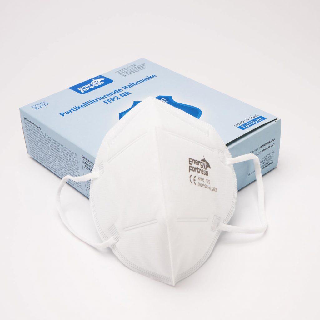 Verpackung und FPP2 Atemschutzmaske
