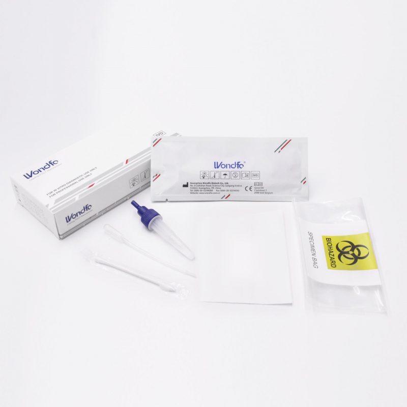 Wondfo Antigen-Test Spuck/Speicheltest Kit-Ausstattung